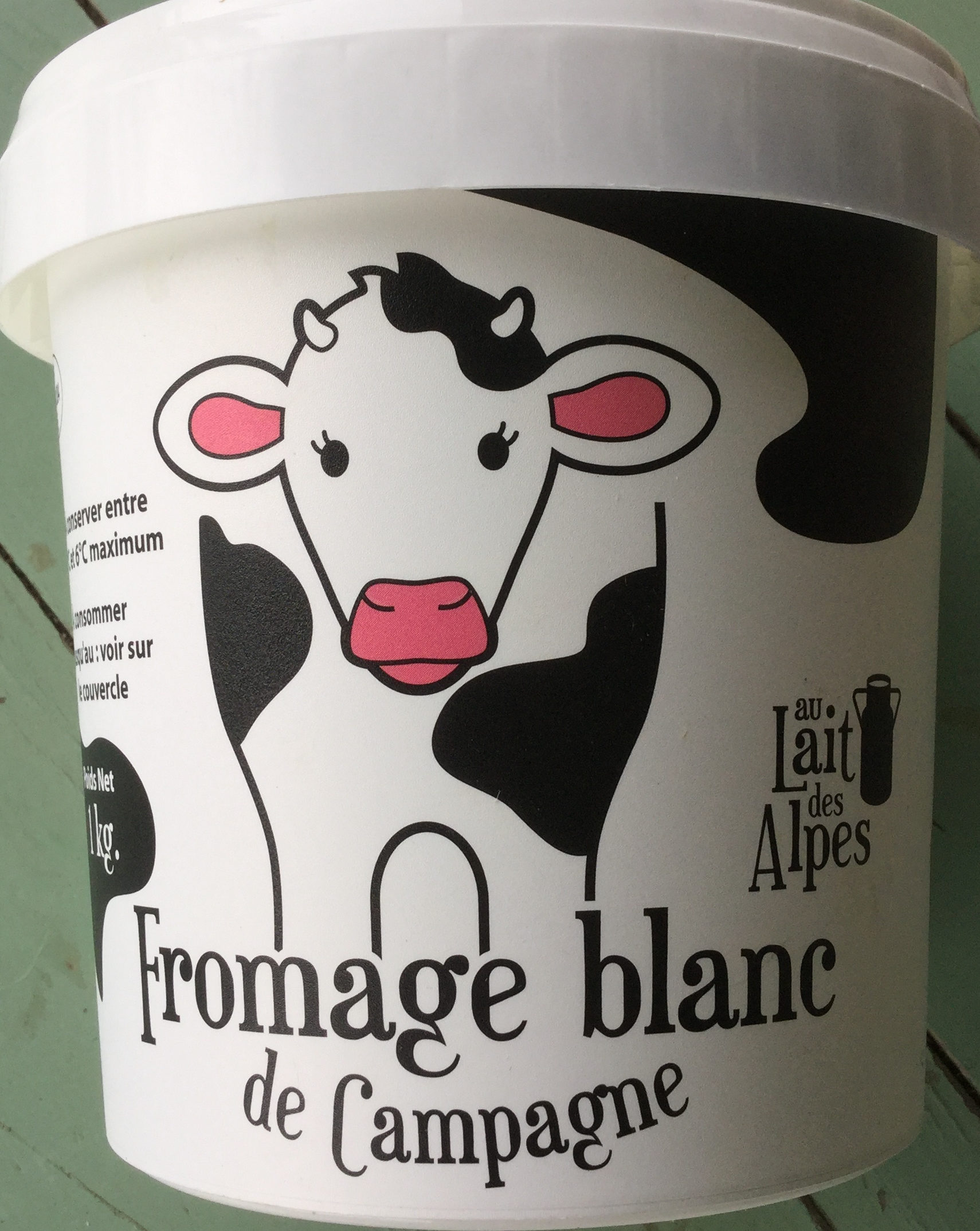 Fromage blanc de campagne au lait des Alpes - Produit - fr