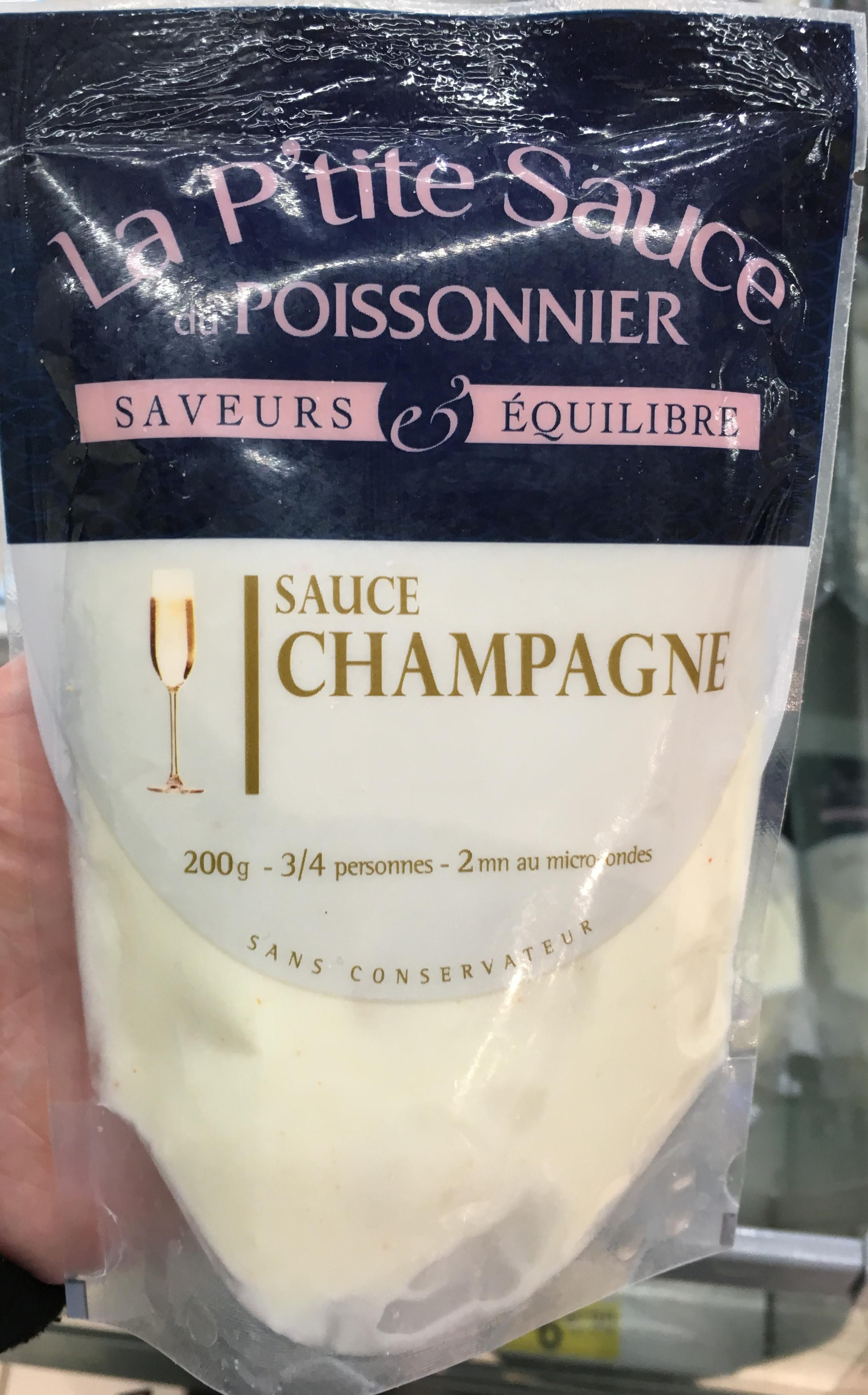 sauce champagne la p 39 tite sauce du poissonnier 200 g. Black Bedroom Furniture Sets. Home Design Ideas