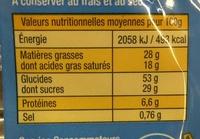 Le Quatre Quarts d'Armor Pur Beurre - Voedingswaarden - fr