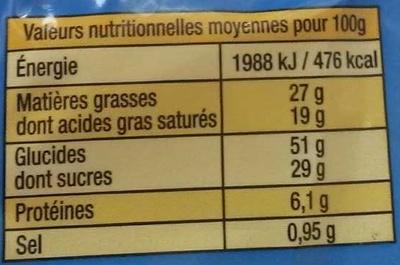 La Madeleine d'Armor Pur Beurre - Nutrition facts