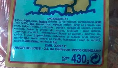 La Madeleine d'Armor - Ingrediënten