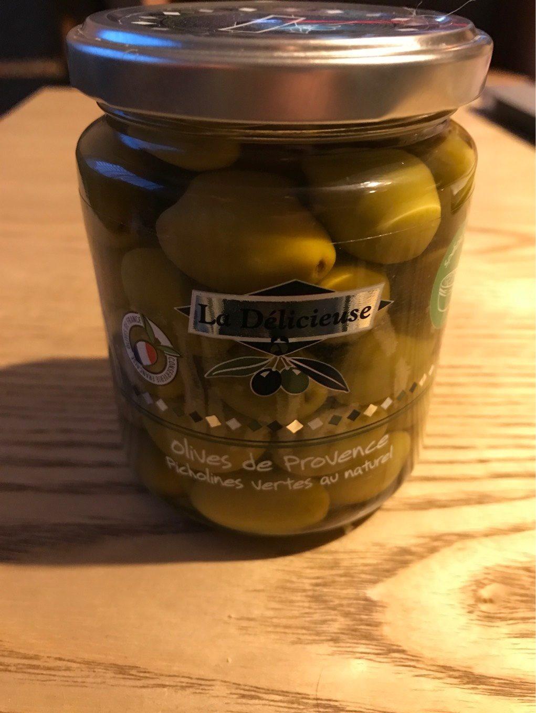 Olives vertes La Délicieuse. Provence picholine naturel - Informations nutritionnelles