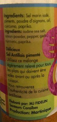 Sel Antillais Pimenté - Ingredients - fr