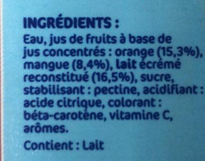 Danao orange mangue - Ingrediënten