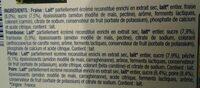 Danone et fruits - Ingredients - fr