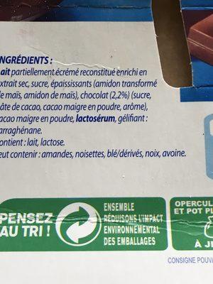 Danette Chocolat - Ingredients