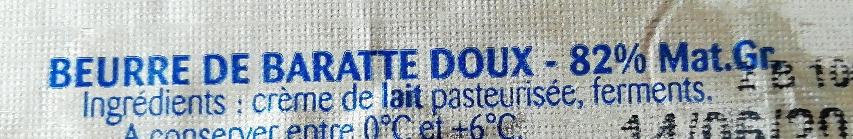 Beurre de baratte doux - Ingredients - fr