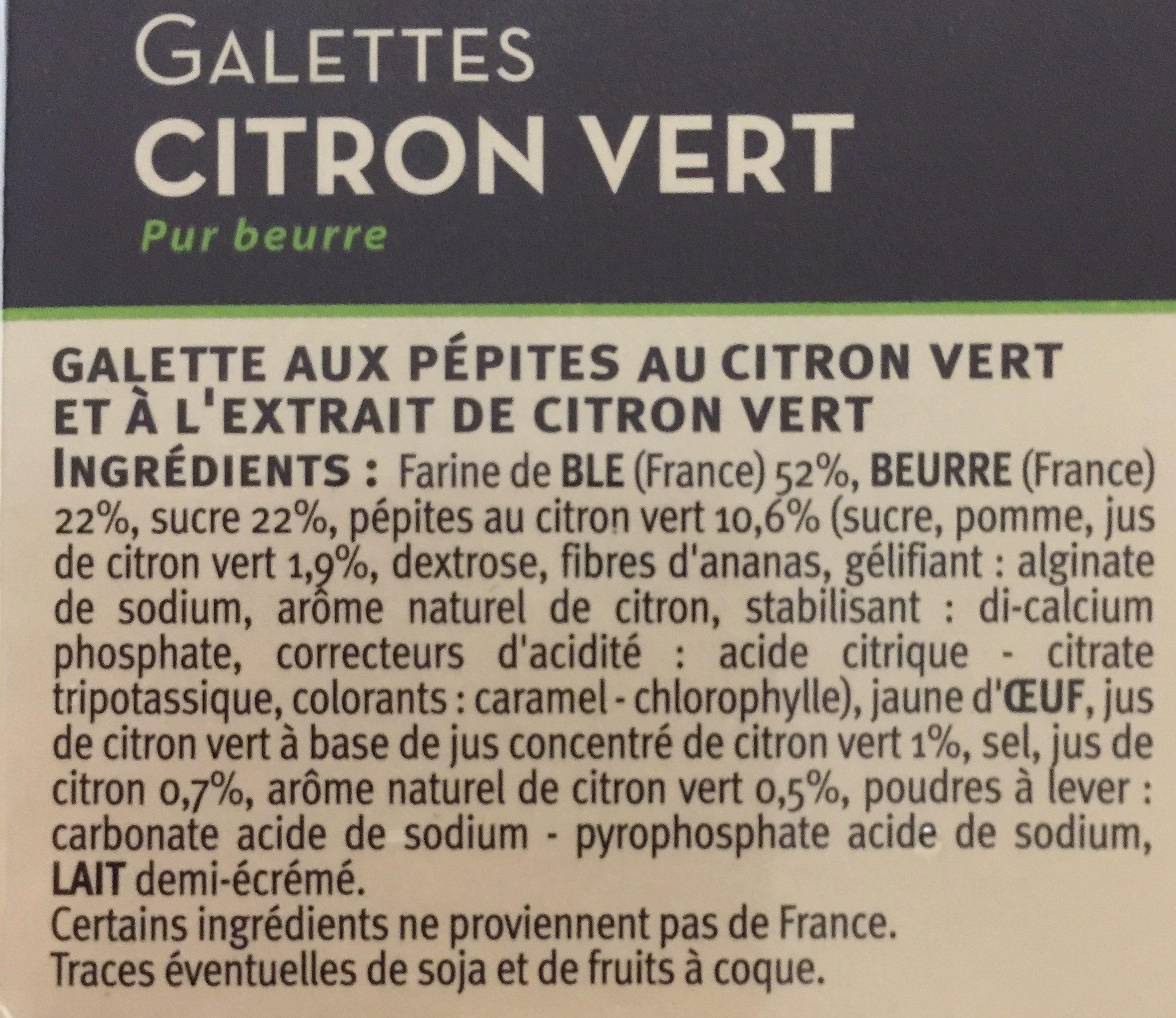 Galettes citron vert - Ingrédients - fr