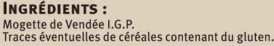 Mogettes de Vendée IGP - Ingrediënten - fr