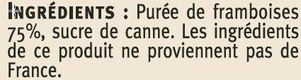 Coulis de framboises - Ingrédients - fr