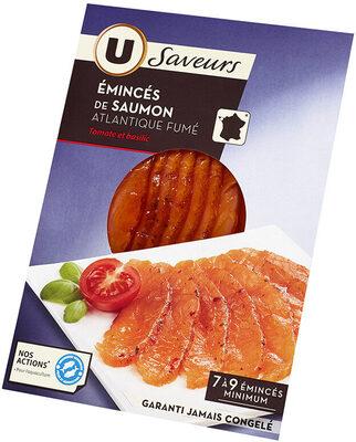 Emincés de saumon fumé tomate basilic - Product