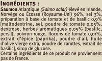 Emincés de saumon fumé tomate basilic - Ingrediënten