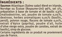 Emincés de saumon fumé tomate basilic - Ingrediënten - fr