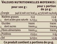 Emincés de saumon fumé sésame pavot - Nutrition facts - fr
