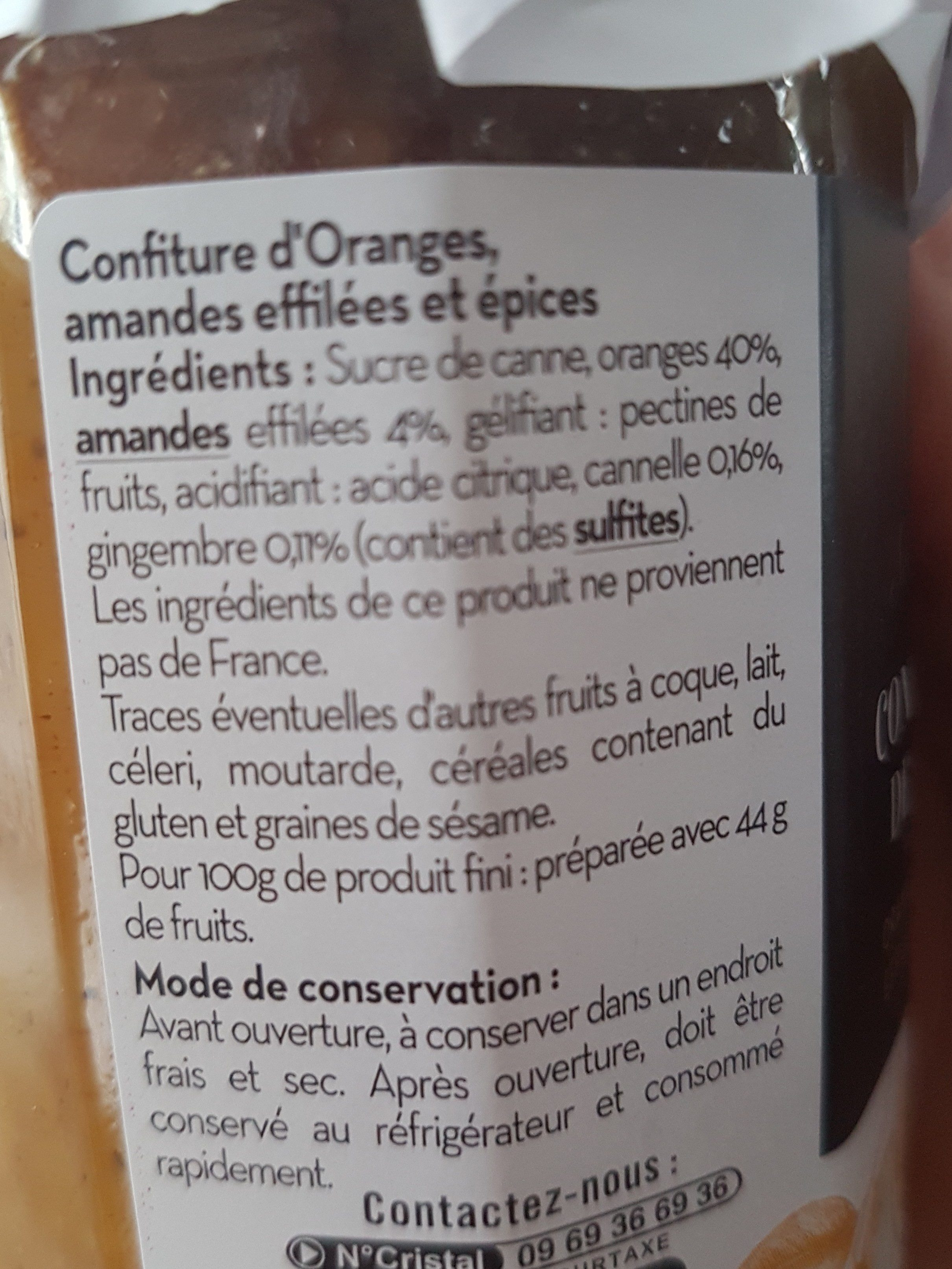 Confiture de Noël - Ingrediënten - fr