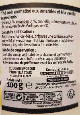 Thé amande vanille - Ingredients - fr