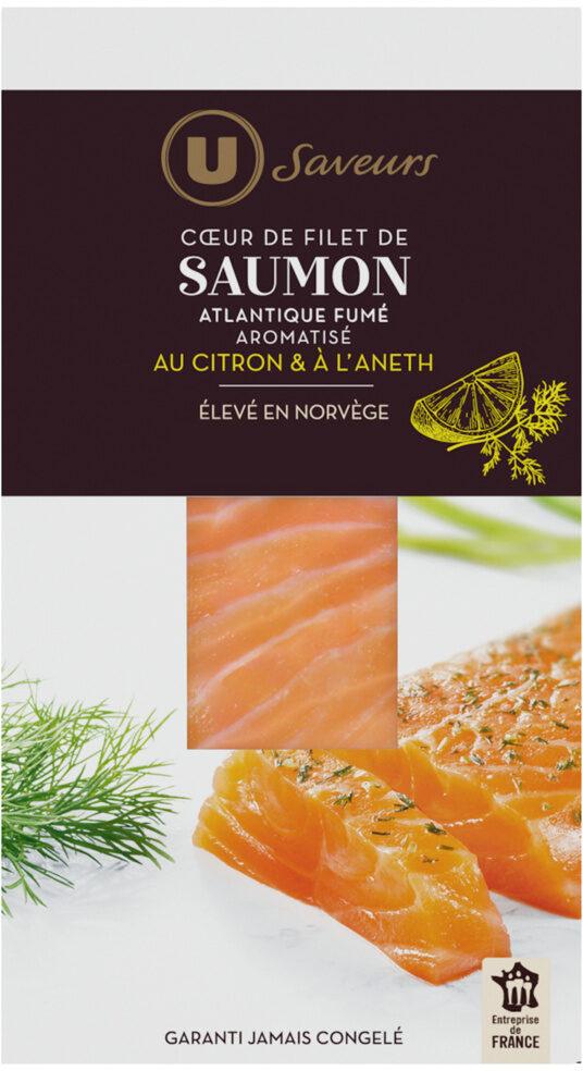 Coeur de filet de saumon fumé d'Atlantique aromatisé citron et aneth - Product