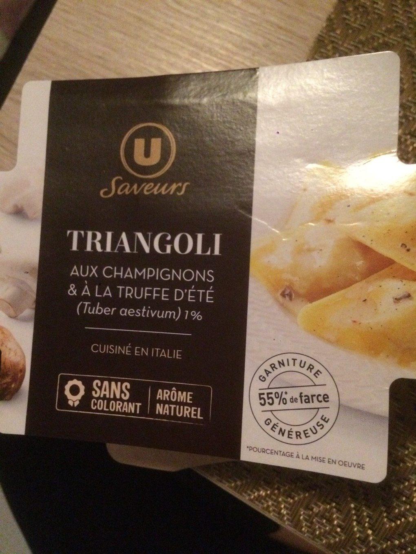 Triangoli aux champignons & à la truffe d'été - Product