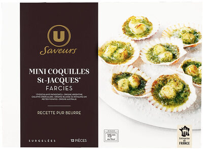Mini coquilles St Jacques farcies beurre,ail et persil - Product