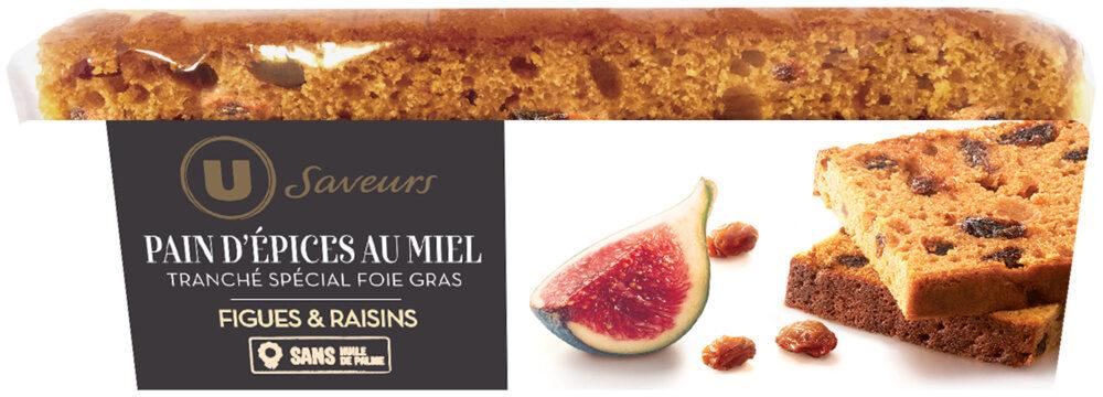 Pain d'épices tranché figues et raisins - Product