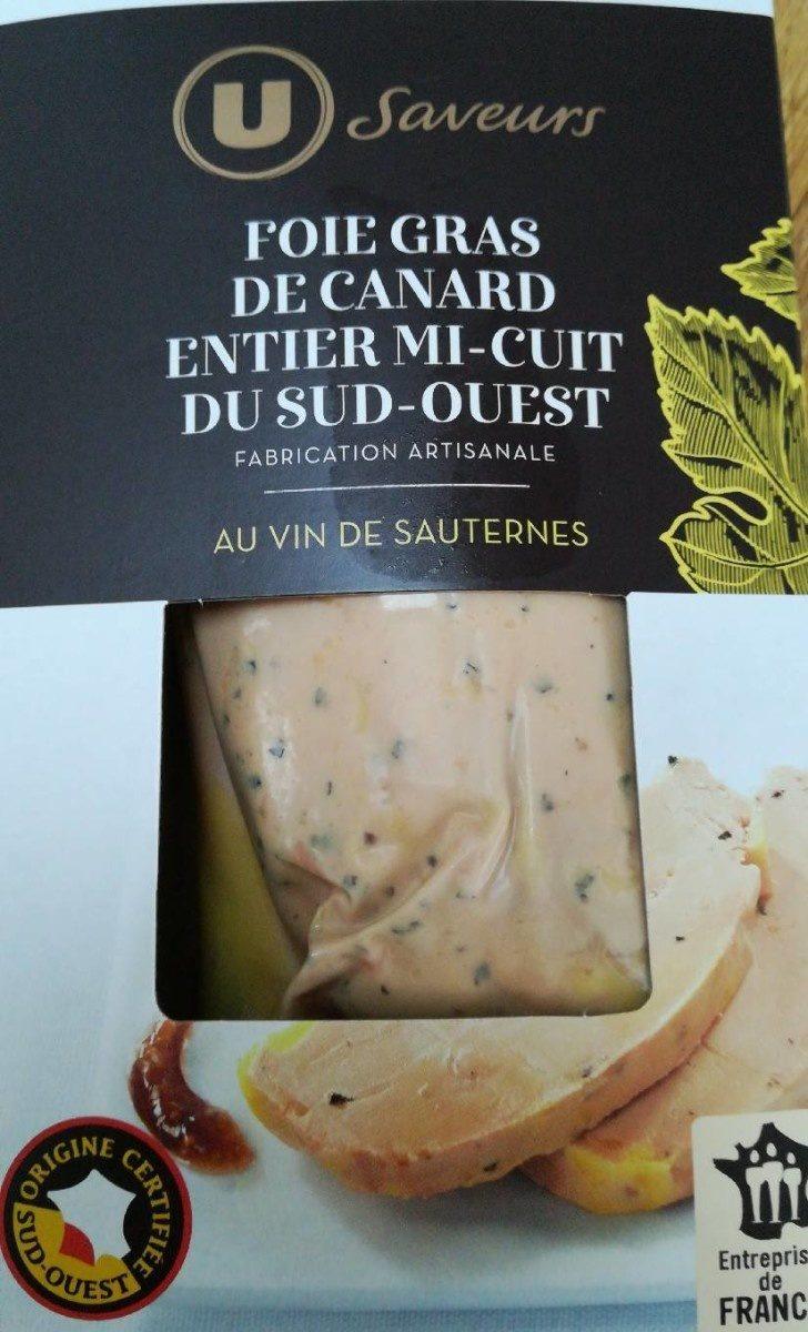 Foie gras de canard entier du Sud-Ouest mi-cuit au vin de Sauternes IGP Saveurs - Product - fr