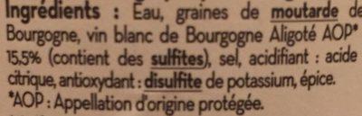 Moutarde de bourgogne - Ingredients