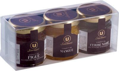 Coffret de confits de Figue de Mangue et de Cerise noire Saveurs - Product - fr