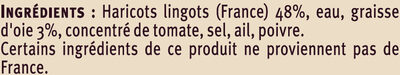 Haricots lingots à la graisse d'oie - Ingredients - fr