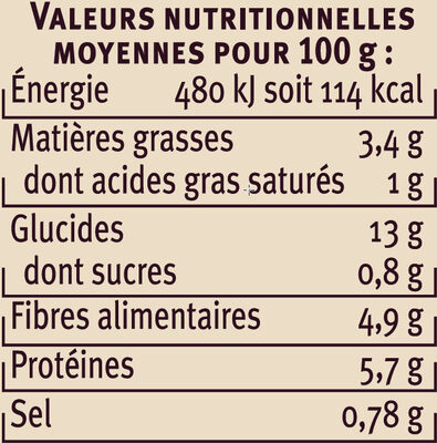 Haricots lingots à la graisse d'oie - Nutrition facts