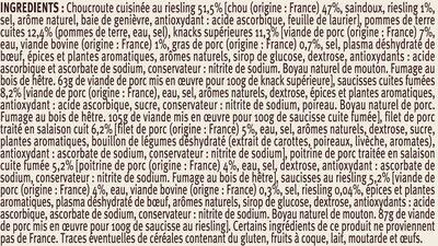 Choucroute garnie d'Alsace - Ingrédients - fr