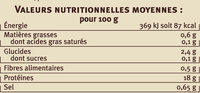 Noix de coquilles Saint Jacques de la baie Saint Brieuc - Nutrition facts