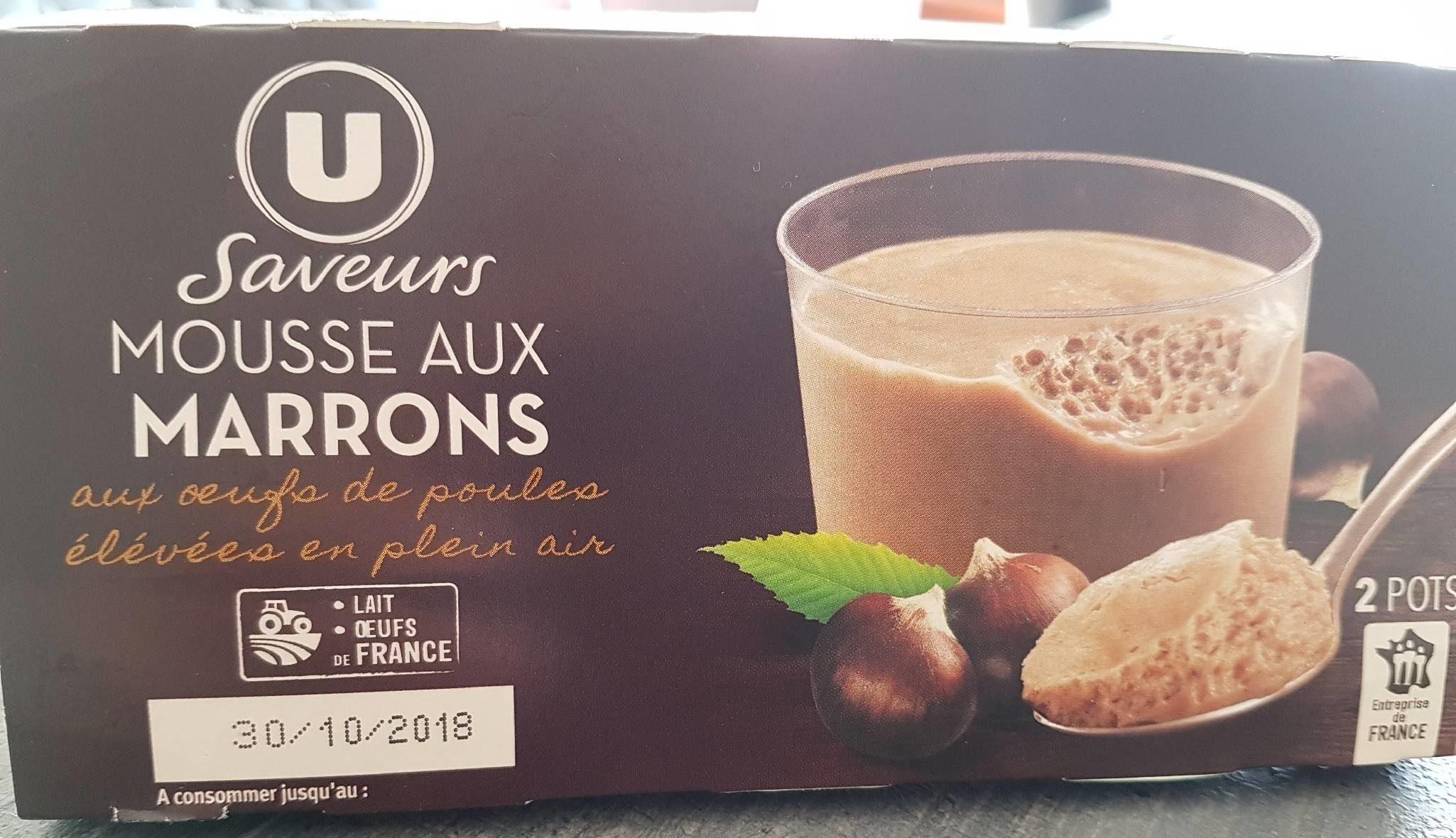 Mousse aux oeufs à la crème de marron vanillée - Product