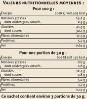 Chips de Légumes - Nutrition facts