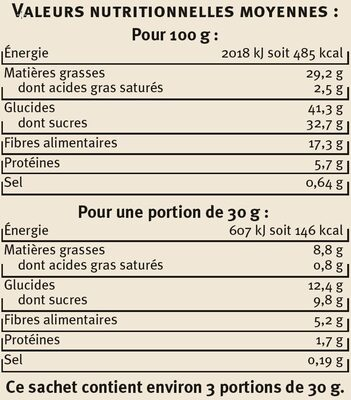 Chips de Légumes - Informations nutritionnelles - fr