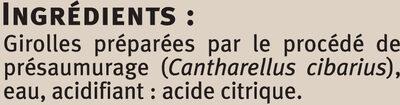 Girolles champignons sauvages Saveurs - Ingrédients - fr
