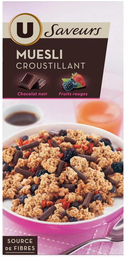 Muesli croustillant chocolat noir fruits rouges - Product