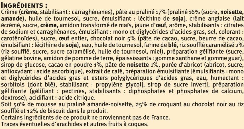 Croquant Praliné - Ingredients