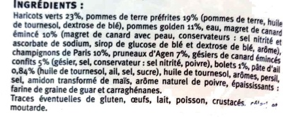 Poêlée gourmande au canard - Ingrediënten