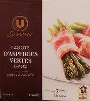 Fagots d'asperges vertes enrobés de lard - Produit - fr