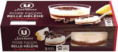 Dessert pâtissier poire façon belle Hélène sur lit de chocolat - Product - fr