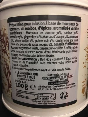 Infusion rooibos épices - Ingredienti - fr