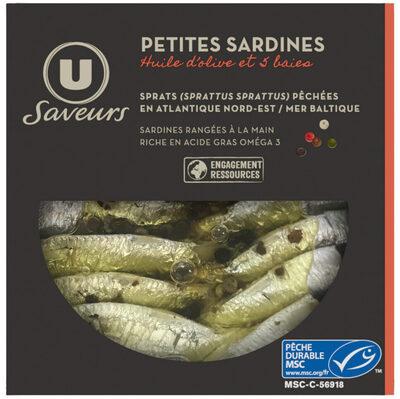 Mini sardines 5 baies huile olive - Produit - fr