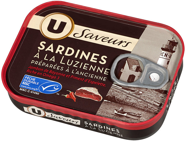Sardines à la Luzienne jamb.Bayon.piment espelette, - Product - fr