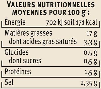 Olives à la Mexicaine - Nutrition facts