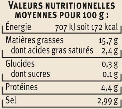 Olives mélange apéritif - Nutrition facts