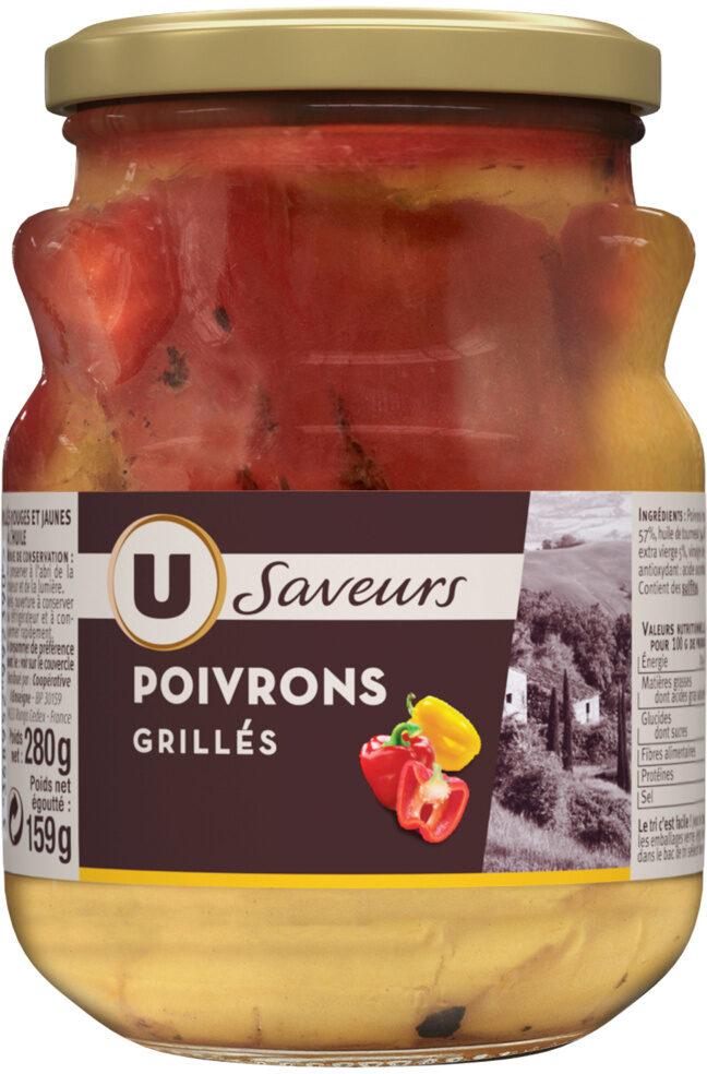 Poivrons grillés rouges et jaunes à l'huile - Produit - fr