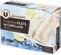 Coeur de filet de cabillaud pêché en océan Atlantique - Produit - fr