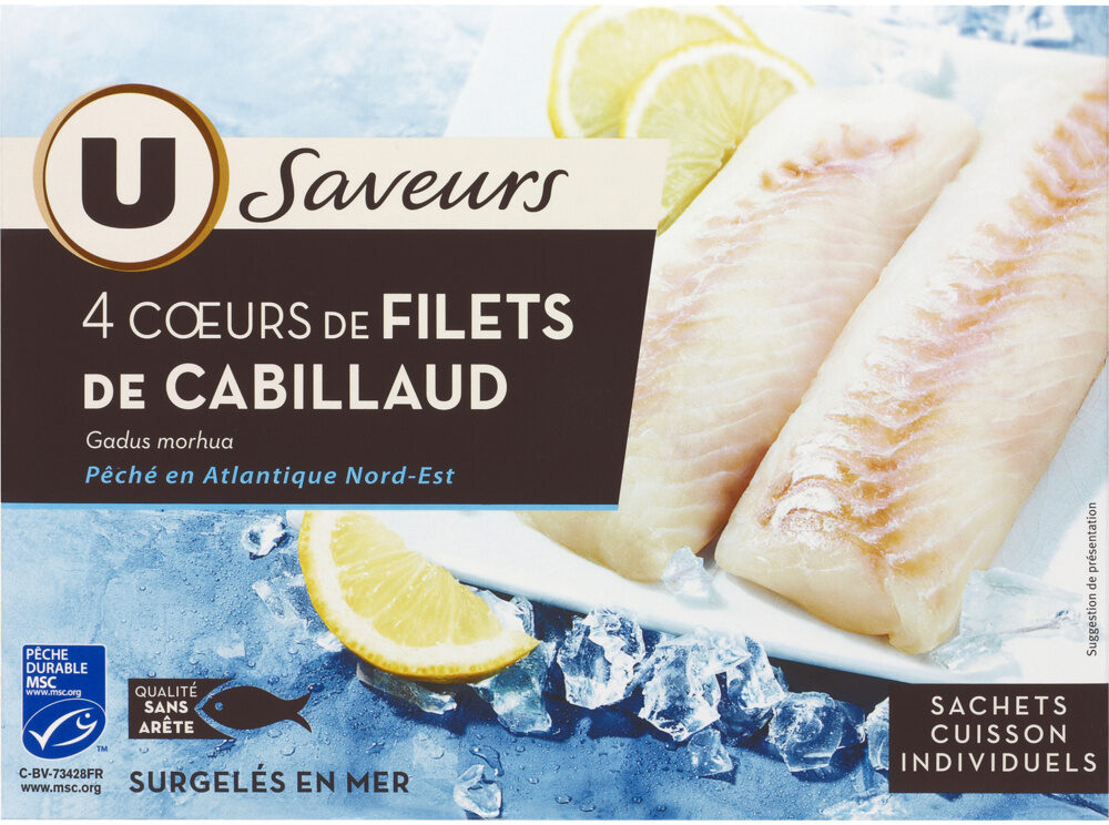 4 Cœurs de filet de cabillaud - Product - fr