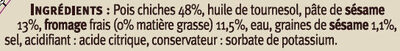 Houmous au pois chiches et sésame - Ingredients - fr