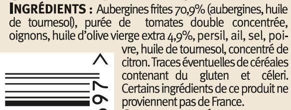 Caviar d'aubergines - Ingredients - fr